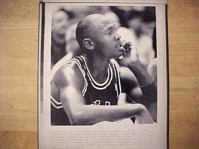 WIREPHOTO: Michael Jordan - {11/30/88} 'High Point Streak Snapped' (Bulls) Basketball cards value