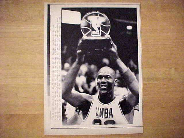 WIREPHOTO: Michael Jordan - {02/08/88} 'NBA's MVP' (Bulls) Basketball cards value