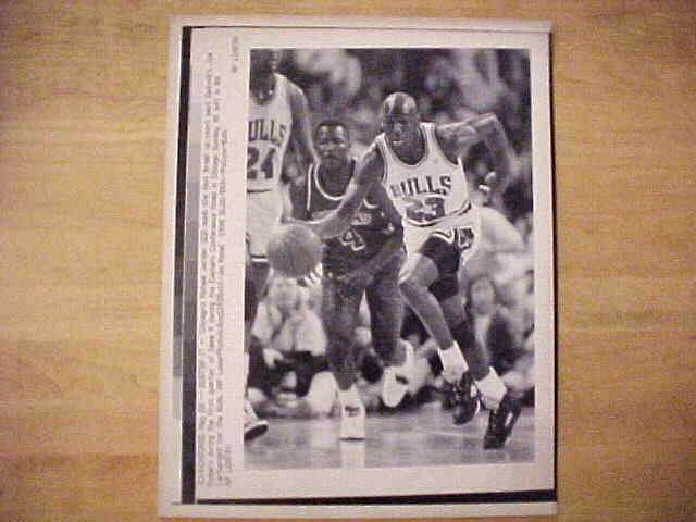 WIREPHOTO: Michael Jordan - {05/28/90} 'Bustin' It' (Bulls) Basketball cards value