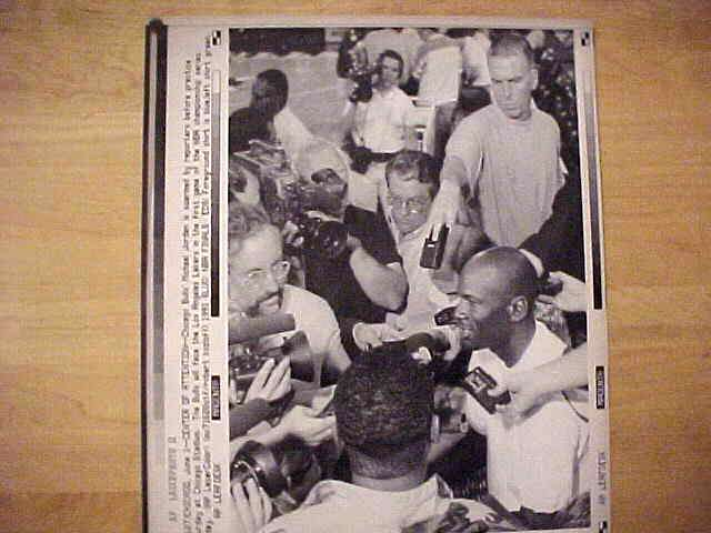 WIREPHOTO: Michael Jordan - {06/01/91} 'Center Of Attention' (Bulls) Basketball cards value