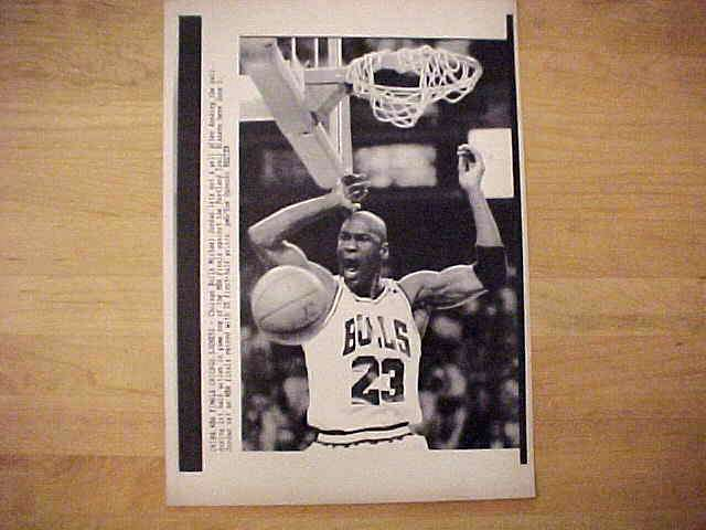 WIREPHOTO: Michael Jordan - {06/03/92} 'Whoop It Up' (Bulls) Basketball cards value