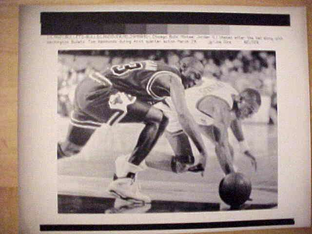 WIREPHOTO: Michael Jordan - {03/29/91} 'Chase' (Bulls) Basketball cards value