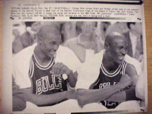 WIREPHOTO: Michael Jordan - {05/27/91} 'Enjoya-Bull!' (Bulls) Basketball cards value