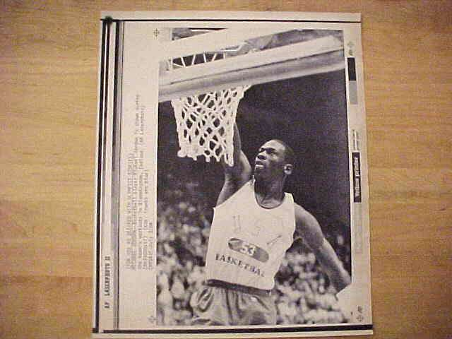 WIREPHOTO: Michael Jordan - {07/03/84} 'Up And In' (Bulls) Basketball cards value