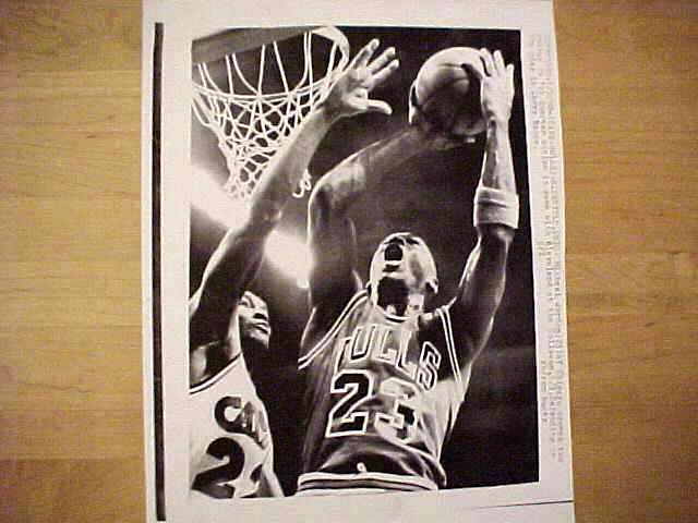 WIREPHOTO: Michael Jordan - {01/03/90} 'Come Get It' (Bulls) Basketball cards value