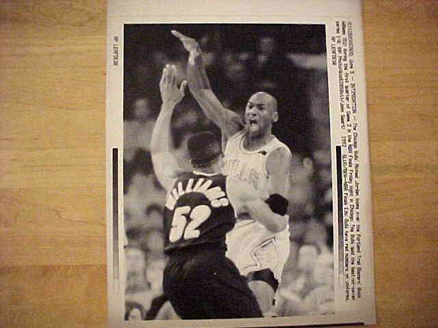 WIREPHOTO: Michael Jordan - {06/05/92} 'Intimidation' (Bulls) Basketball cards value