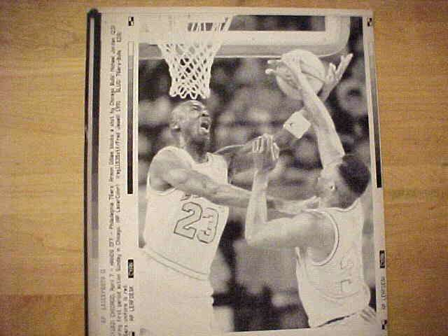 WIREPHOTO: Michael Jordan - {04/07/91} 'Hands Off' (Bulls) Basketball cards value
