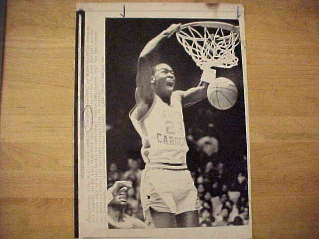 WIREPHOTO: Michael Jordan - {01/29/84} 'Jamming Jordan' (Bulls) Basketball cards value