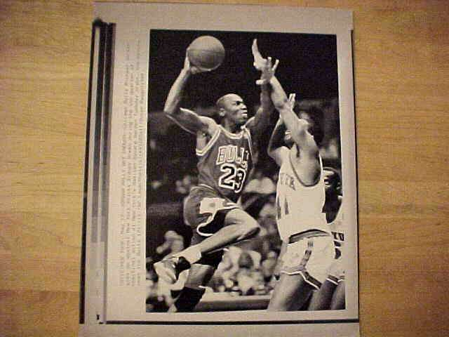 WIREPHOTO: Michael Jordan - {05/17/89} 'Jordan Rally Not Enough' (Bulls) Basketball cards value
