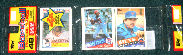 1985 Topps Rack Pack - KIRBY PUCKETT ROOKIE showing on TOP !!!