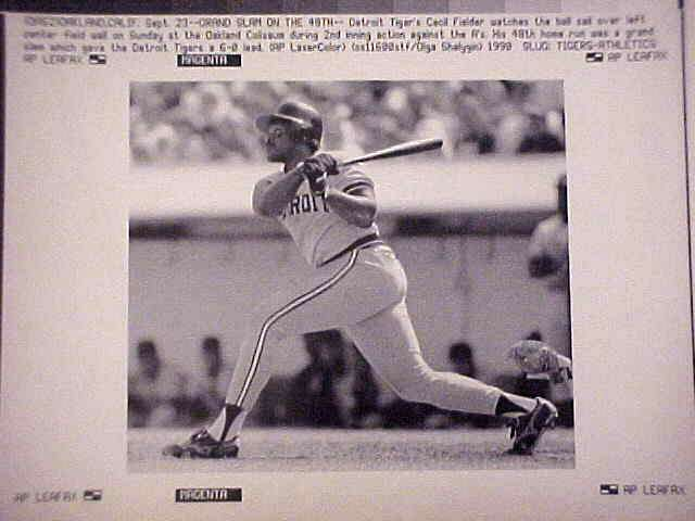WIREPHOTO: Cecil Fielder - Lot of 10 DIFFERENT (Tigers) Baseball cards value