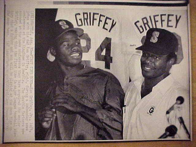 WIREPHOTO: Ken Griffey Jr - {08/30/90} 'First Time Ever' (Mariners) Baseball cards value