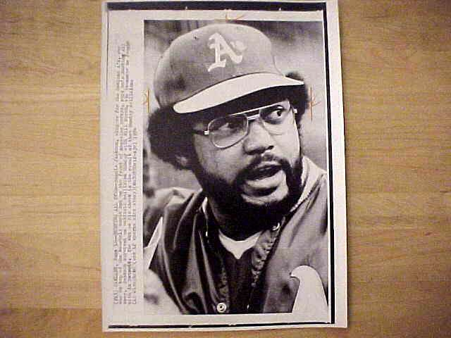 WIREPHOTO: Reggie Jackson - {06/18/74} 'Hurting All Over' (A's) Baseball cards value