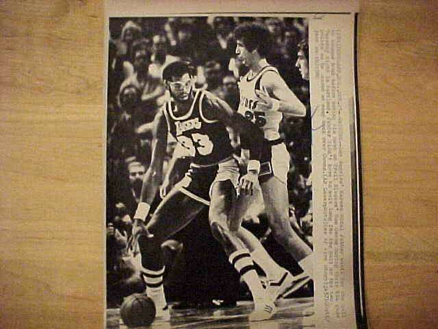 WIREPHOTO: Kareem Abdul-Jabbar - {12/17/80} 'The Force' (Lakers) Basketball cards value