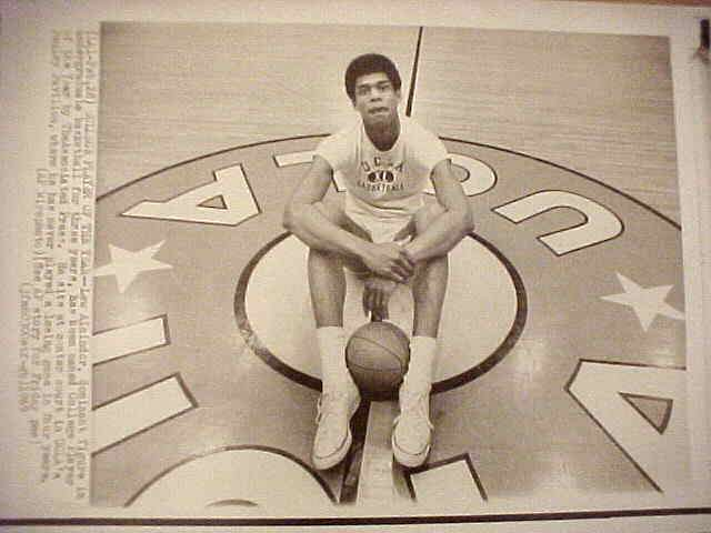 WIREPHOTO: Kareem Abdul-Jabbar - {06/16/75} 'Next Stop?' (Bucks) Basketball cards value