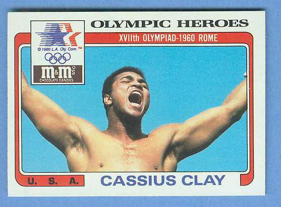 1983 Mars M&M's Olympic Heroes #7 CASSIUS CLAY ROOKIE (Muhammad Ali) BOXING Non-Sports cards value