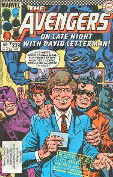 Comic: AVENGERS #239 'On LATE NIGHT w/DAVID LETTERMAN' Baseball cards value