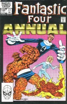Comic: FANTASTIC FOUR  Annual #17 (1983) Baseball cards value