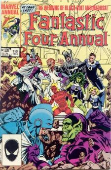 Comic: FANTASTIC FOUR  Annual #18 (1984) Baseball cards value