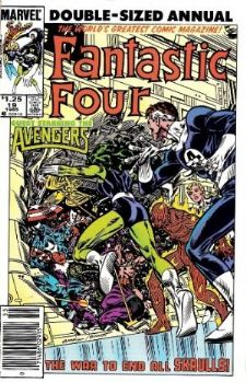 Comic: FANTASTIC FOUR  Annual #19 (1985) Baseball cards value
