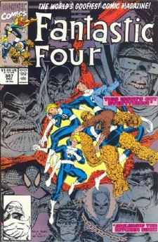 Comic: FANTASTIC FOUR #347 (1990) Baseball cards value
