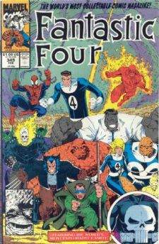Comic: FANTASTIC FOUR #349 (1991) Baseball cards value