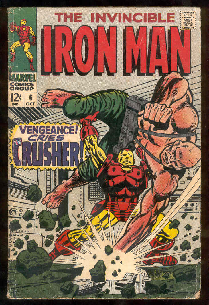 Comic: The Invincible IRON MAN #..6 (1968) Baseball cards value