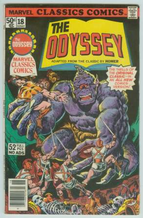 Comic: Marvel Classics Comics #18 The ODYSSEY (1977) Baseball cards value