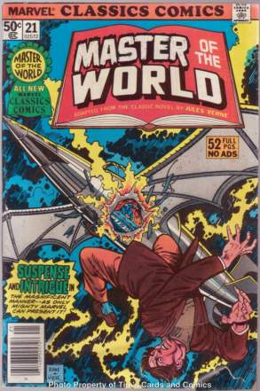 Comic: Marvel Classics Comics #21 MASTER of the WORLD (1977) Baseball cards value