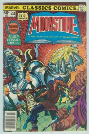 Comic: Marvel Classics Comics #23 MOONSTONE (1977) Baseball cards value