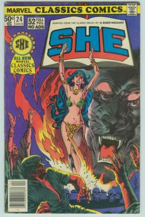 Comic: Marvel Classics Comics #24 SHE (1977) Baseball cards value