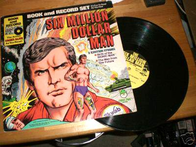 SIX MILLION DOLLAR MAN RECORD/COMIC SET (1977) (Sealed in original wrap!) Baseball cards value