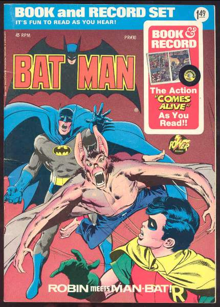 BATMAN RECORD/COMIC SET - 'Robin Meets Man-Bat!' (1974) In original seal! Baseball cards value