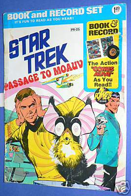 STAR TREK RECORD/COMIC SET - Passage to Moauv (1975,wh) (In original seal!) Baseball cards value