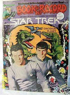 STAR TREK RECORD/COMIC SET - Dinosaur Planet (1979) (In original seal!) Baseball cards value