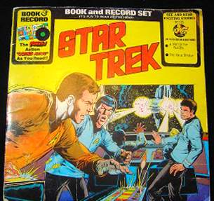 STAR TREK 12 in. RECORD/COMIC SET (1976) 'Time Stealer, YELLOW' Baseball cards value