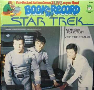 STAR TREK 12 in. RECORD/COMIC SET (1979) 'Time Stealer, GREEN) Baseball cards value