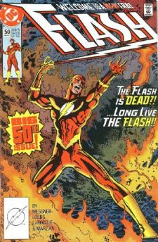 Comic: FLASH #50 (BIG 50th ISSUE,Double Sized) (1991) Baseball cards value