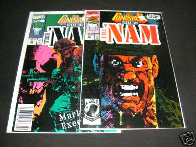 Comic: PUNISHER INVADES the 'NAM #52 & #53 (Part 1&2) (1990) Baseball cards value