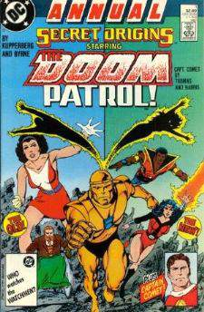 Comic: Secret Origins ANNUAL #1 The DOOM PATROL! (Both the OLD & NEW) and Baseball cards value