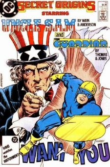 Comic: Secret Origins #19 UNCLE SAM and The GUARDIAN Baseball cards value