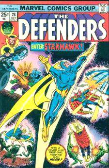 Comic: DEFENDERS #28 (Co-Starring HULK,Dr. Strange) Baseball cards value