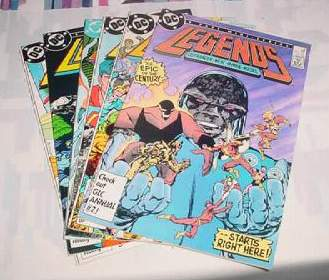 Comic: LEGENDS of DC UNIVERSE - Complete Mini Series (6 Comics) (1986) Baseball cards value