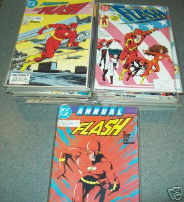 Comic: FLASH - RUN #1-#14 (14 comics) (1987-) Baseball cards value