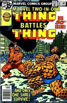 Comic: MARVEL TWO-IN-ONE #50 The THING Battles The THING (1979) Baseball cards value