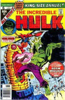 Comic: HULK  KING-Size ANNUAL #6 (w/Dr. Strange) (1977) Baseball cards value