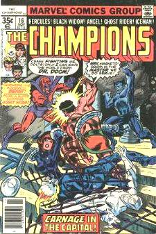 Comic: CHAMPIONS #16 (1977) Baseball cards value