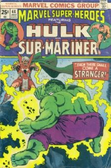Comic: MARVEL Super-Heroes #44 HULK & SUB-MARINER (1974) Baseball cards value