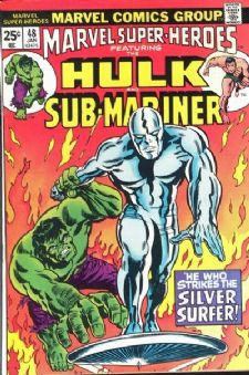 Comic: MARVEL Super-Heroes #48 HULK & SUB-MARINER (1975) Baseball cards value