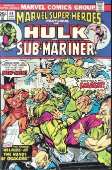 Comic: MARVEL Super-Heroes #49 HULK & SUB-MARINER (1975) Baseball cards value